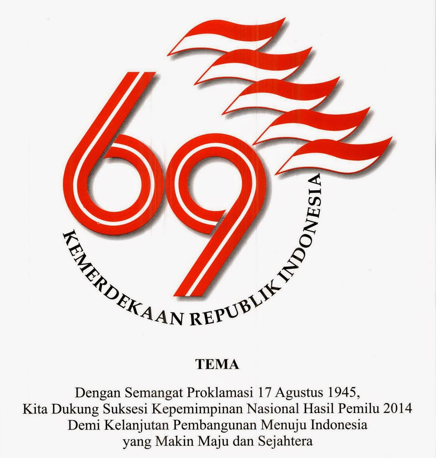 Logo dan Tema Peringatan HUT RI ke-69 Tahun 2014