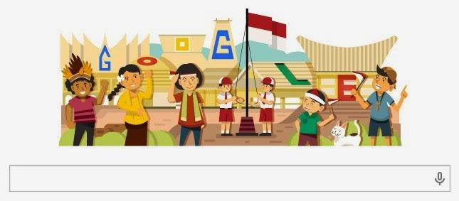 Peringatan Hari Kemerdekaan Indonesia di Google Doodle