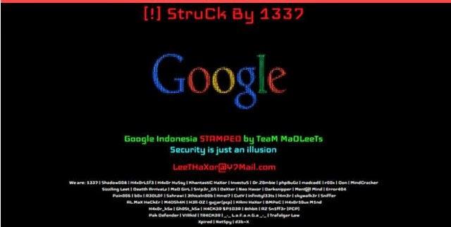 Google Indonesia Diserang Hacker