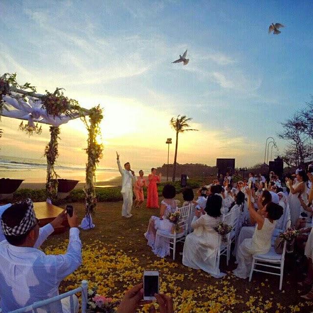 Foto Resepsi Pernikahan Raffi dan Nagita di Bali