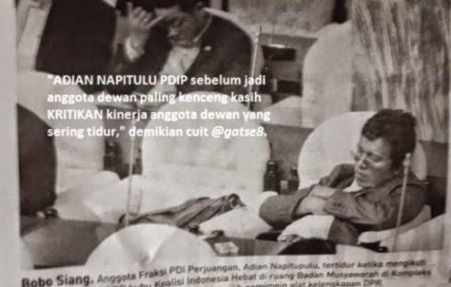 Heboh Foto Adian Napitupulu Tertidur Saat Sidang DPR
