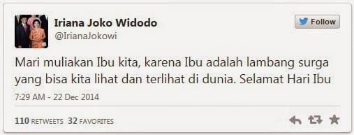 Cara Iriana Jokowi Ucapkan Selamat Hari Ibu di Sosmed