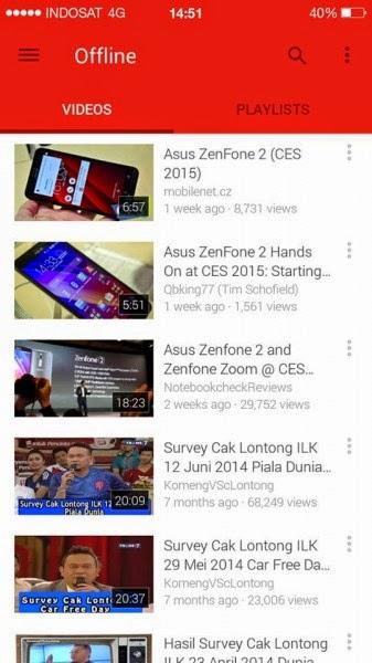 Tips Nonton Video Youtube di Android Tanpa Koneksi Internet