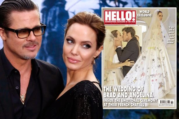 Foto Pernikahan Angelina Jolie dan Brad Pitt