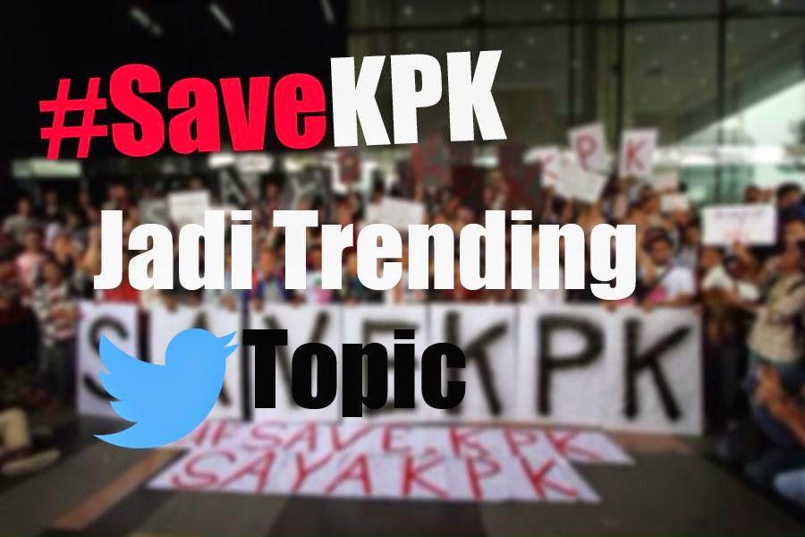 Status Gambar dan DP BBM #SaveKPK