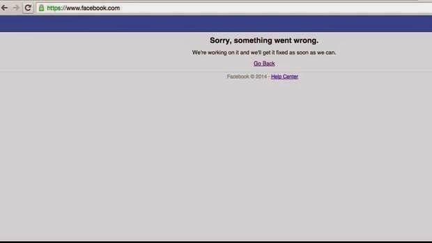 Facebook dan Instagram Down